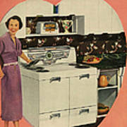 Crosleys  1950s Uk Cookers Kitchens Art Print