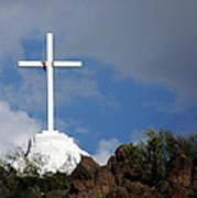 Cross At San Xavier - Tucson Art Print