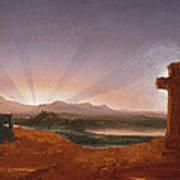 Cross At Sunset Art Print