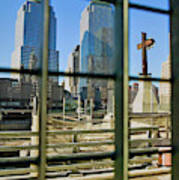 Cross At World Trade Towers Memorial Art Print