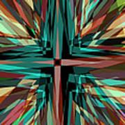 Cross Burst 2 Art Print