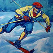 Cross Country Skier Art Print