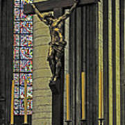 Cross Of Rouen Cathedral Art Print