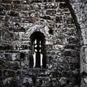Crosses And Stone Walls At Clonmacnoise Art Print