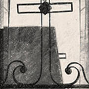 Crosses Voided Wrought Iron _ Nola Art Print