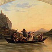 Crossing At Schreckenstein Art Print