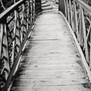 Crossing Over - Black And White Art Print