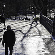 Crossing Over - Central Park - Nyc Art Print