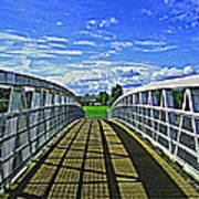 Crossing Over Bridge Art Print
