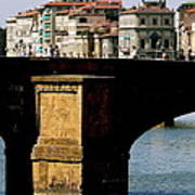 Crossing The Arno Art Print