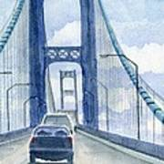 Crossing The Mackinac Art Print