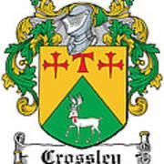 Crossley Coat Of Arms Irish Art Print