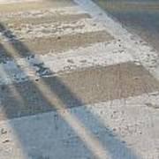 Crosswalk Shadow 2 Art Print