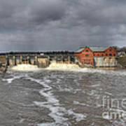 Croton Dam Flood Art Print