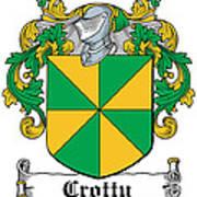 Crotty Coat Of Arms Irish Art Print