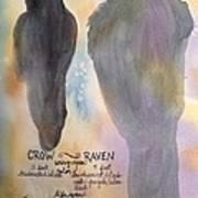 Crow And Raven Art Print