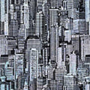 Crowded City Art Print