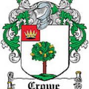 Crowe Coat Of Arms Irish Art Print