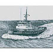 Crowley Tugboat Ocean Going Gladiator Art Print