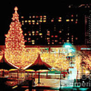 Crown Center Christmas - Kansas City-1 Art Print