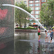 Crown Fountain Play Art Print