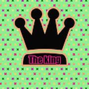 Crown In Pop Art Art Print by Tommytechno Sweden