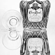 Crown Royal Black And White Art Print