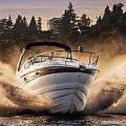 Crownline Boat Art Print
