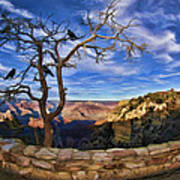 Crows Of The Grand Canyon Art Print
