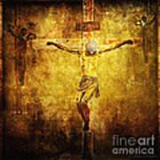 Crucified Via Dolorosa 12 Print by Lianne Schneider