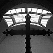 Crucifix And Skylight Art Print