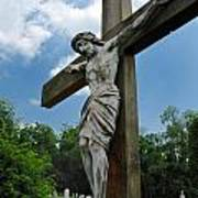 Crucifix Statue St James Cemetery Sewickley Heights Pennsylvania Art Print