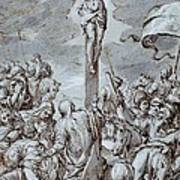 Crucifixion Art Print by Johann or Hans von Aachen