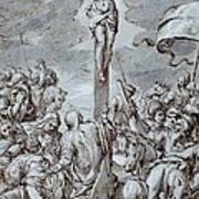 Crucifixion Print by Johann or Hans von Aachen
