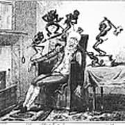 Cruikshank: Headache, 1819 Art Print