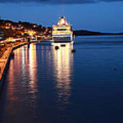 Cruise Liner At Cobh Harbour Art Print by Maeve O Connell