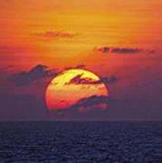 Cruise Sunset Art Print