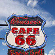 Cruisers Cafe 66 Sign Art Print
