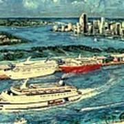 Cruising Miami Art Print