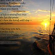 Cruising Poem Art Print