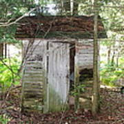 Crumbling Old Outhouse Art Print