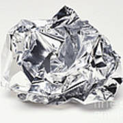 Crumpled Aluminum Foil Art Print