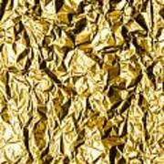 Crumpled Gold Foil Art Print