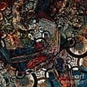 Crushed Spirals Art Print