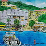 Cruz Bay St. Johns Virgin Islands Art Print
