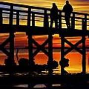 Crystal Beach Pier At Sunset II Art Print