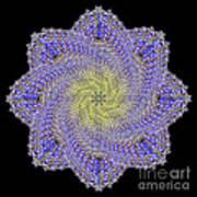 Crystal Blue Salvia Art Print