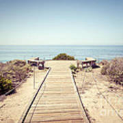 Crystal Cove Overlook Retro Picture Art Print by Paul Velgos