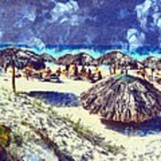 Cuban Beach Art Print