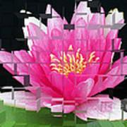 Cubed Lily Art Print